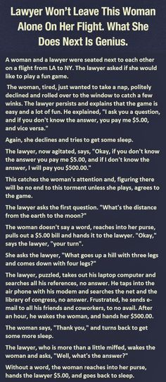 This woman beats the lawyer...