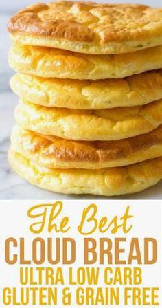 Keto Bread Recipe With Psyllium Egg And Bread Recipes, Easy Keto Bread Recipe, Lowest Carb Bread Recipe, Coconut Recipes, Easy Cake Recipes, Low Carb Recipes, Healthy Recipes, Recipe Breadmaker, Celiac Recipes