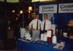 In celebration of our 25th anniversary, every Thursday we post a picture for Throw Back Thursday. #tbt  Bryan and Doug Shinn representing their company during the earlier stages of their business. #thewaterguy #25years #tradeshow