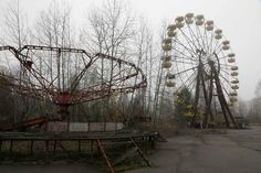 A playground in the deserted town of Pripyat, Ukraine, some 3 kilometers (1.86 miles) from the Chernobyl nuclear plant, Ukraine, Nov. 27, 2012.