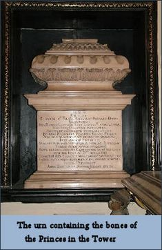 Henry VII Chapel, Westminster Abbey, London. Requests to examine the remains of the two young boys killed in the Tower of London to determine whether or not they are the two Princes are denied.