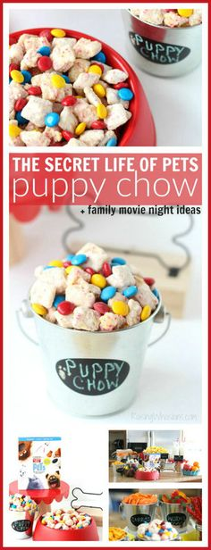 The Secret Life of Pets Puppy Chow & Family Movie Night Ideas The Secret Life of. - The Secret Life of Pets Puppy Chow & Family Movie Night Ideas The Secret Life of Pets Puppy Chow & - Animal Birthday, Dog Birthday, 2nd Birthday Parties, Birthday Ideas, Birthday Snacks, Fourth Birthday, Puppy Chow, Pet Puppy, Chow Chow