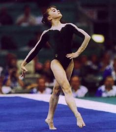 Two-time Olympic Champion Lilia Podkopayeva of Ukraine 1996