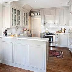 Light Gray Cabinets, Transitional, kitchen, TerraCotta Properties