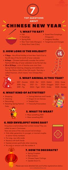 Top 7 Questions about Chinese New Year - Nouvel An chinois - Dinner Recipes Chinese New Year Facts, Chines New Year, Chinese New Year Traditions, Chinese New Year Crafts For Kids, Chinese New Year Activities, Chinese New Year Poster, Chinese New Year Decorations, Chinese Crafts, New Years Traditions