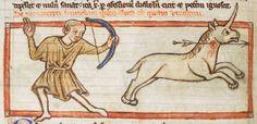 Animal detail from medieval illuminated manuscript, British Library Harley MS 3244, 1236-c 1250, f42v
