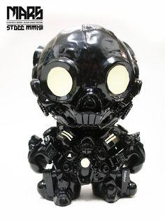 MARS (Black Ghost vinyl toy custom) on Toy Design Served