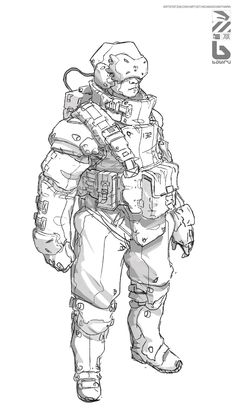 Sketch by Nivanh Chanthara Character Concept, Character Art, Character Illustration, Illustration Art, Concept Draw, Sci Fi Characters, Character Design References, Animation, Comic Art