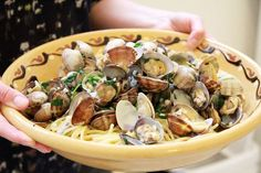 Pasta with Clams in a White Wine Sauce