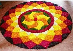 49 Ideas For Flowers Design Drawing Artworks Easy Rangoli Designs Diwali, Rangoli Designs Latest, Rangoli Designs Flower, Small Rangoli Design, Rangoli Patterns, Colorful Rangoli Designs, Rangoli Ideas, Rangoli Designs Images, Flower Rangoli