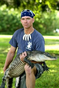 "Nice picture of Paul with one of his most beloved gators ""Octagator"""