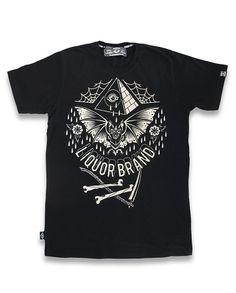 2019 Fashion Hot sale Summer style Liquor Brand Herren BAT T-Shirts. Rockabilly Shop, Rockabilly Fashion, Pinup, Biker Tattoos, Oldschool, Tee Shirts, Tees, Herren T Shirt, Branded T Shirts