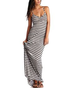 Look at this Vitamin A Black Stripe Erica Maxi Dress on #zulily today!
