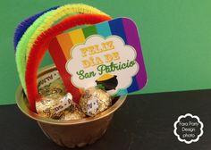 Ollitas de oro para el Día de San Patricio. Imprimible Gratis. #freeprintable #craft #saintpatricks #stpatrick #day #gold #rainbow
