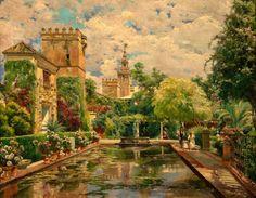 Manuel Garcia y Rodriguez - The Gardens of the Royal Alcazar, Seville