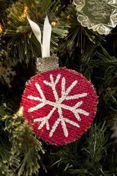 burlap christmas ornament to make | Burlap Christmas Ornaments | A Jenerek Life…