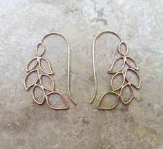 Gold-filled garland earrings by Meli Jewelry