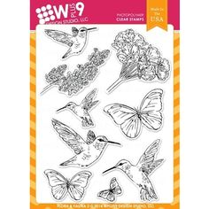 Wplus9 FLORA AND FAUNA 2 Clear Stamps CL-WP9F&F2 --SSS $20.99
