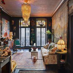 The landmarked Victorian Gothic meets Queen Anne Revival edifice has had an impressively storied life Bohemian Hotel, Bohemian Apartment, Bohemian Decor, Bohemian Men, Boho, Interior Decorating, Interior Design, French Interior, Interior Ideas