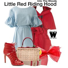 Inspired by Lilla Crawford as Little Red Riding Hood in 2014's Into the Woods.