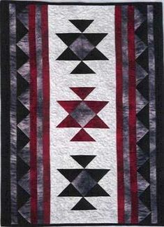 Blocks with strips between to break them up Star Quilts, Quilt Blocks, Blue Quilts, Quilting Projects, Quilting Designs, Southwestern Quilts, Southwest Style, Native American Patterns, Indian Patterns