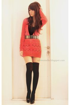 Obsessed with thigh high socks. And studded belts.