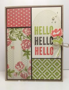 Oh Hello for The Paper Players by stampwithsandy - Cards and Paper Crafts at Splitcoaststampers