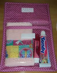Resultado de imagem para kit higiene em tecido passo a passo