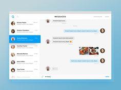 "via Muzli. ""Chat/Messaging UI Inspiration"" is published by Muzli in Muzli - Design Inspiration. Dashboard Ui, Ui Ux, App Ui, Chat Web, Motion App, Ui Website, New Project Ideas, Ui Elements, Design Elements"