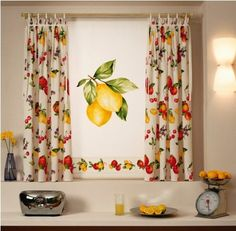 Decorating Kitchen Window Curtains With Lots Of Color | Home Design & Decoration