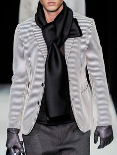 Emporio Armani menswear f/w 2013... Stripes are always in fashion
