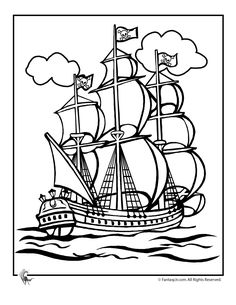 Pirate Coloring Page Printables Pirate Ship Coloring Page – Fantasy Jr.