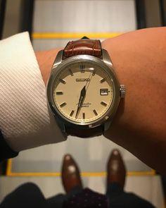 "28 Likes, 2 Comments - Marion Urmeneta (@marionurmeneta) on Instagram: ""Business dinner #seiko #seikowatch #sarb035 #hirschstraps #watch #watchesofinstagram"""