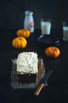 Pumpkin Maple Cake with a Vanilla Icing via Souvlaki for the Soul #recipe
