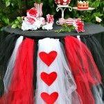Idea para decorar mesa en cumpleaños de Alicia en el País de las Maravillas