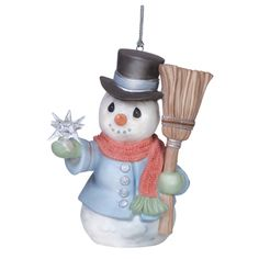 """Precious Moments 6th Annual Snowman Product Description """"All Is Bright""""  Sixth in Series Ornament Height 3.25″"""