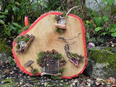 Fairy Homes, Hiking Boots, Burlap, Reusable Tote Bags, Homemade, Heart, Fairy Houses, Hessian Fabric, Home Made