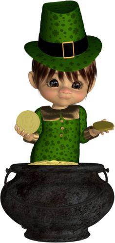 St Patrick : tube cookie, poser doll - San Patricio
