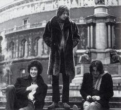Brian May and Roger Taylor with Tim Staffell in the band Smile (1968-1970) before the formation of Queen.