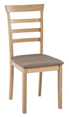 Krzesło JOHAN tapicerowane kolor buku w JYSK.