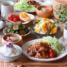 Japanese Dinner, Asian Recipes, Healthy Recipes, Food Porn, Aesthetic Food, Korean Food, Food Plating, Food Menu, Eating Habits