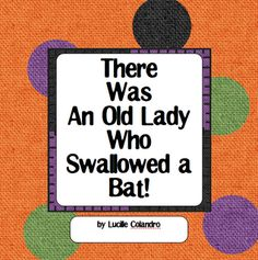 Halloween Fun: There Was An Old Lady Who Swallowed a Bat Freebie
