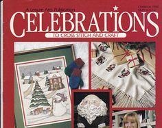 Christmas 1990 Issue Celebrations in Cross Stitch 32 Projects