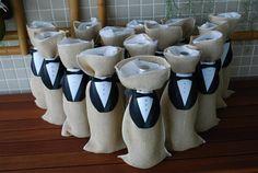 Wine packaging for weddings. Embalagem de vinho para casamentos.