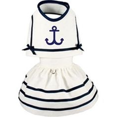 Nautical Anchors Away Dog Dress