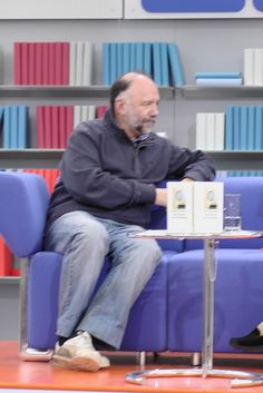 Andrej Kurkow auf dem Blauen Sofa der LBM 2012, via Flickr. Sofa, Time Travel, Writers, Reading, Settee, Couch, Couches