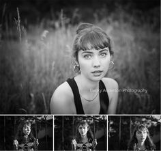 Gorgeous Black and White Senior - Kalamazoo Senior Portraits.