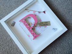 Wooden letter box frame baby girl gift by Munchkinmaker22 on Etsy
