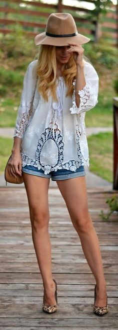 Loving-evelyn White Lace Blouse Fall Inspo