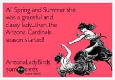 All Spring and Summer she was a graceful and classy lady...then the Arizona Cardinals season started! ArizonaLadyBirds @azcardinals #BirdGang #AZLadyBirds 2015